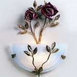 Custom Rose Sconce made of copper, bronze and glass