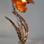 Custom Table Lamp made of copper and bronze.
