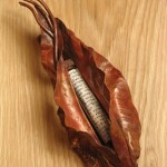Fold form Copper Leaf Mezuzah. .