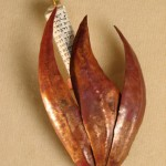 Shin Red Copper Mezuzah