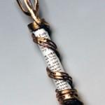 Copper and bronze Spiral Mezuzah