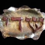 Copper and bronze Hebrew Plaque