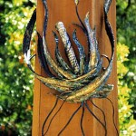 Three foot mezuzah on the gate or Camp Newman Santa Rosa, CA.