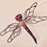 Custom Copper and Bronze Dragonfly Pin