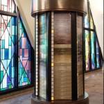 Eternal Flame by Rhonda Kap. Yahrzeit Pillar by Yahrzeittronix.com.
