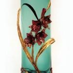 Copper and bronze Custom Gladiola Flower Vase