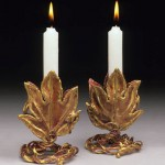 Grape Leaf Candle Stick