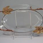 Custom copper handled glass tray.