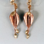 Leaf Earrings made from Copper and bronze