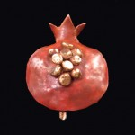 Pomegranate Pendent made from Copper and bronze