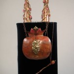 Copper and bronze Rimon Torah Ornaments
