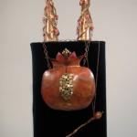 Copper and bronze Rimon Torah Ornaments