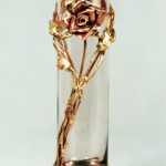 Copper Rose Bud Vase