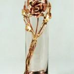 Copper Rose Bud Vase