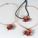 Individually made Rose Pendent.