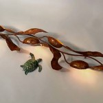 Copper seaweed Sconce. With LED lights.