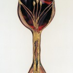 Wine Goblet custom made in copper and bronze.