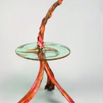 Table Lamp, copper and by Rhonda Kap, Glass by Alisha Volotzky. Niche Award Finalist