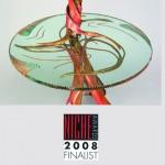 Table Lamp, copper and by Rhonda Kap, Glass by Alisha Volotzky. Niche Award Finalist