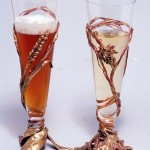 Wedding Toasting Goblets matching-unmatching set.